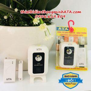 Bộ chuông báo khách báo trộm mở cửa không dầy dùng pin ATA 333CT