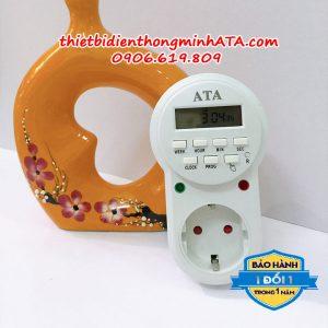 Ổ cắm hẹn giờ kỹ thuật số 8 chương trình ATA 08C