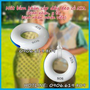 Nút bấm chuông không dây vòng đeo cổ khẩn cấp bênh nhân y tá lớn tuổi