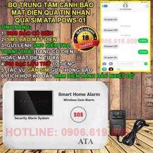 Thiết bị cảnh báo mất điện qua điện thoại bằng tin nhắn ATA