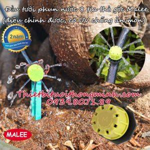 Đầu béc tưới 8 tia thả gốc cao cấp điều chỉnh nhỏ giọt Malee